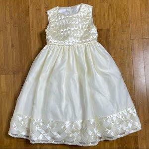 Cinderella Lattice Dress cream 3/3T